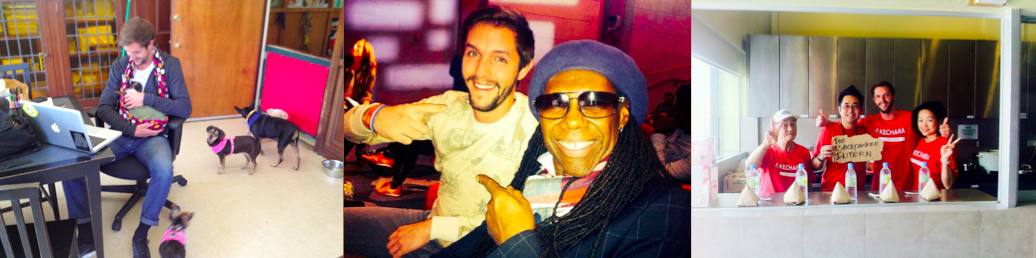 The Backpacker Intern + Dog Shelter + Nile Rodgers + Soup Kitchen