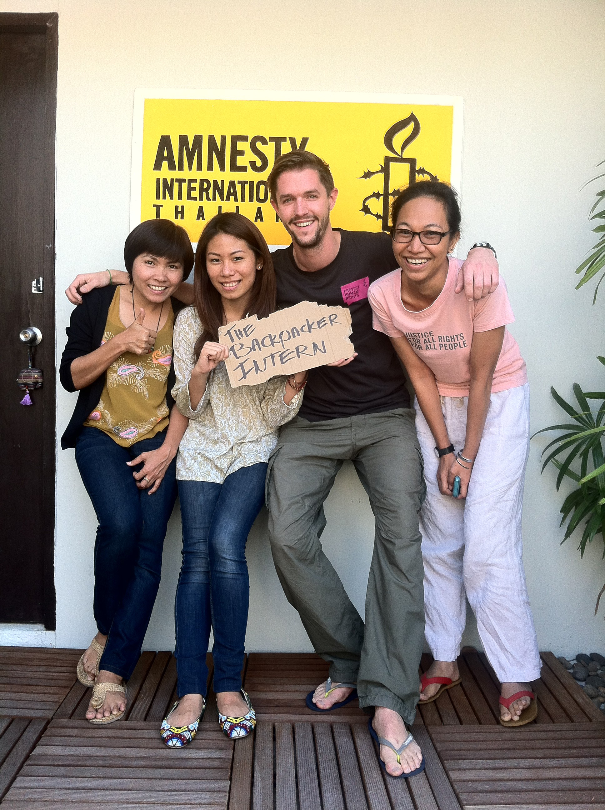 Amnesty International Thailand - The Backpacker Intern