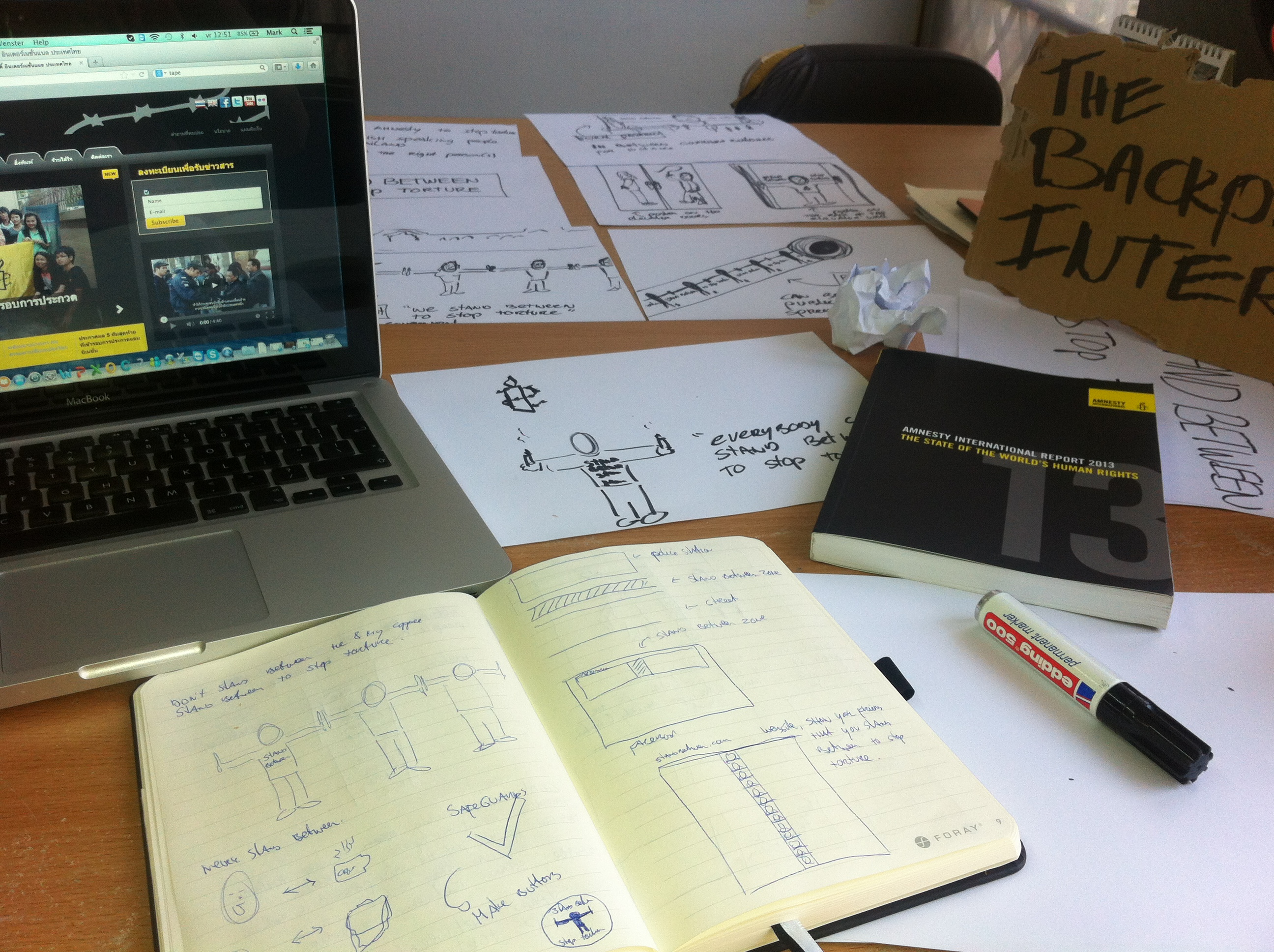 Concepting for Amnesty International Thailand - The Backpacker Intern