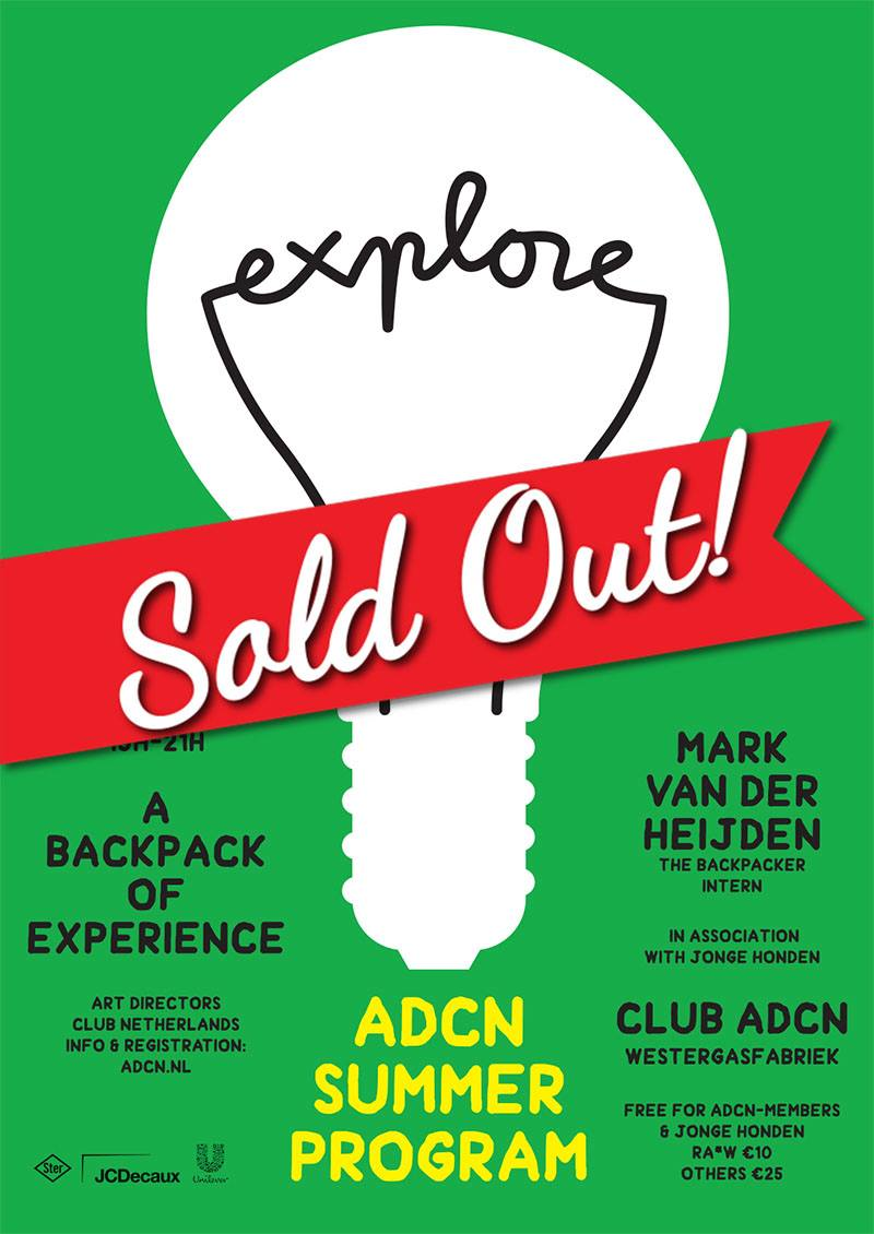 The Backpacker Intern - Speaker at ADCN Sold Out