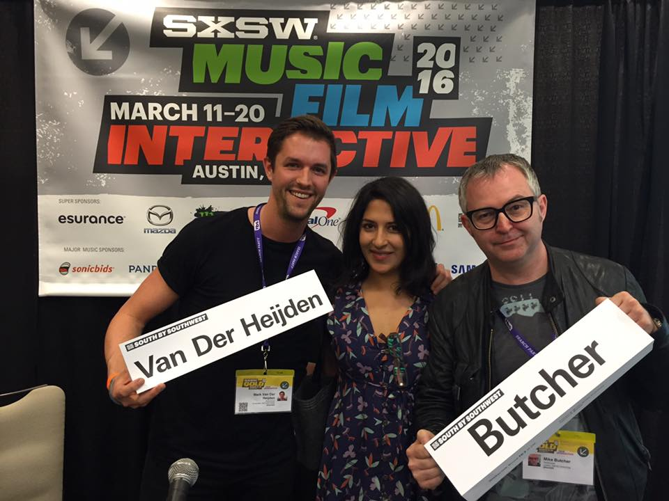 Mark van der Heijden, Anika Saigal, Mike Butcher SXSW 2016