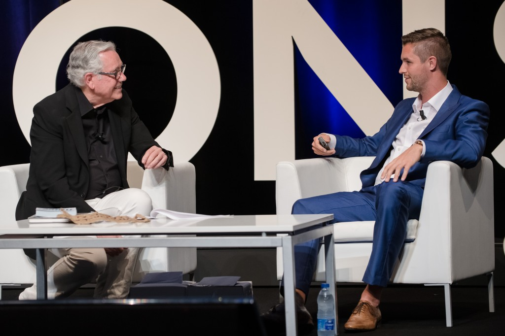 Keith Reinhard and Mark van der Heijden at Cannes Lions International Festival of Creativity
