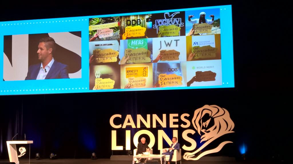 The Backpacker Intern at Cannes Lions Debussy Stage