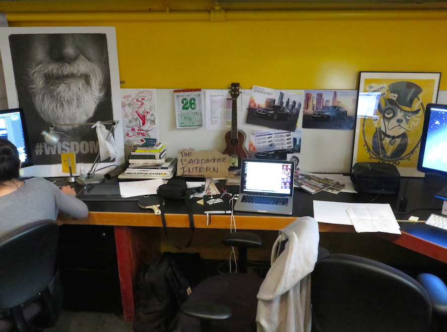 TheBackpackerIntern office at TBWA\Chiat\Day