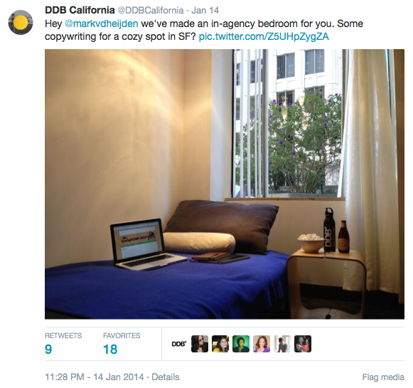DDB California Epic Tweet - The Backpacker Intern