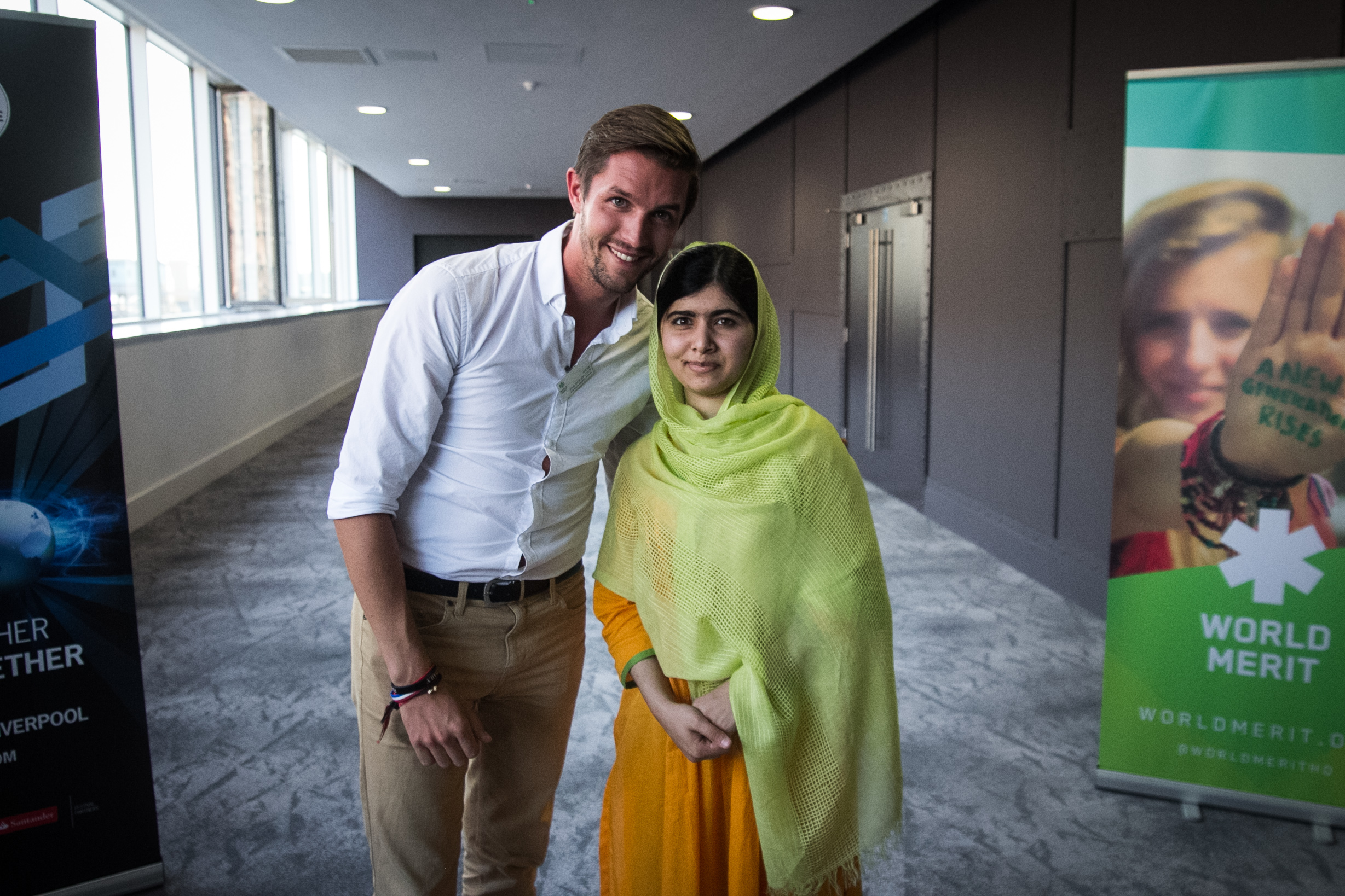 The Backpacker Intern + Malala at World Merit Day 2014