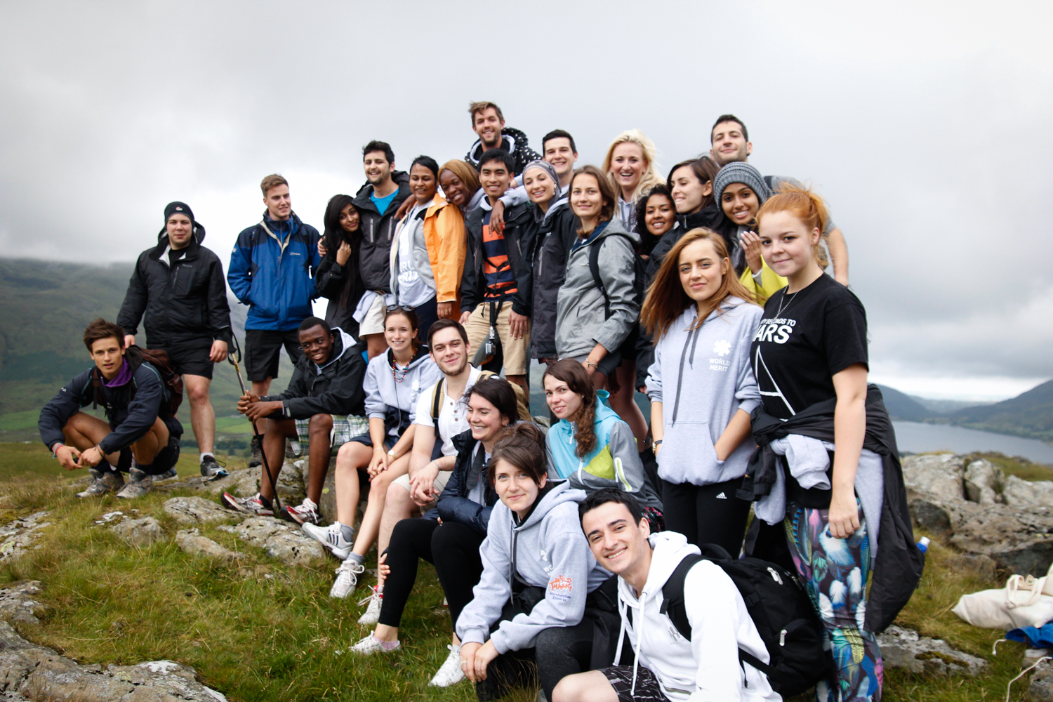 The Backpacker Intern Hiking Snowdon Wales with World Merit Fellowship
