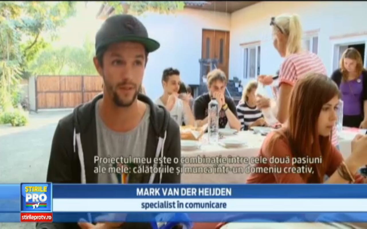 The Backpacker Intern on National Romanian Television