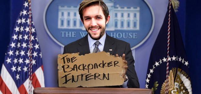 The White House invites The Backpacker Intern
