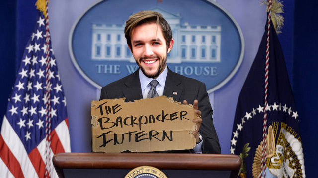 The Backpacker Intern + The White House