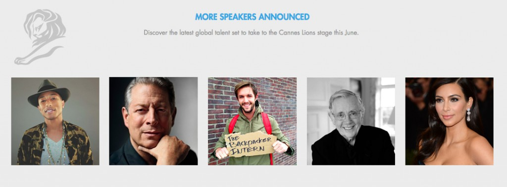 Cannes Lions 2015 Speakers - The Backpacker Intern