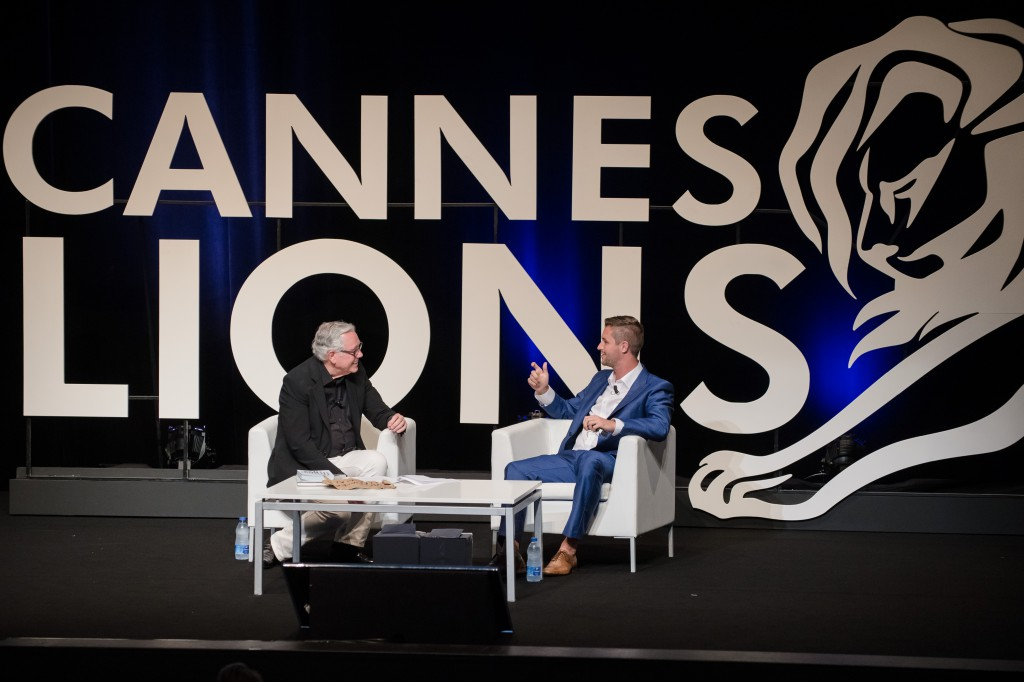 Keith Reinhard and Mark van der Heijden at Cannes Lions Festival of Creativity 2015