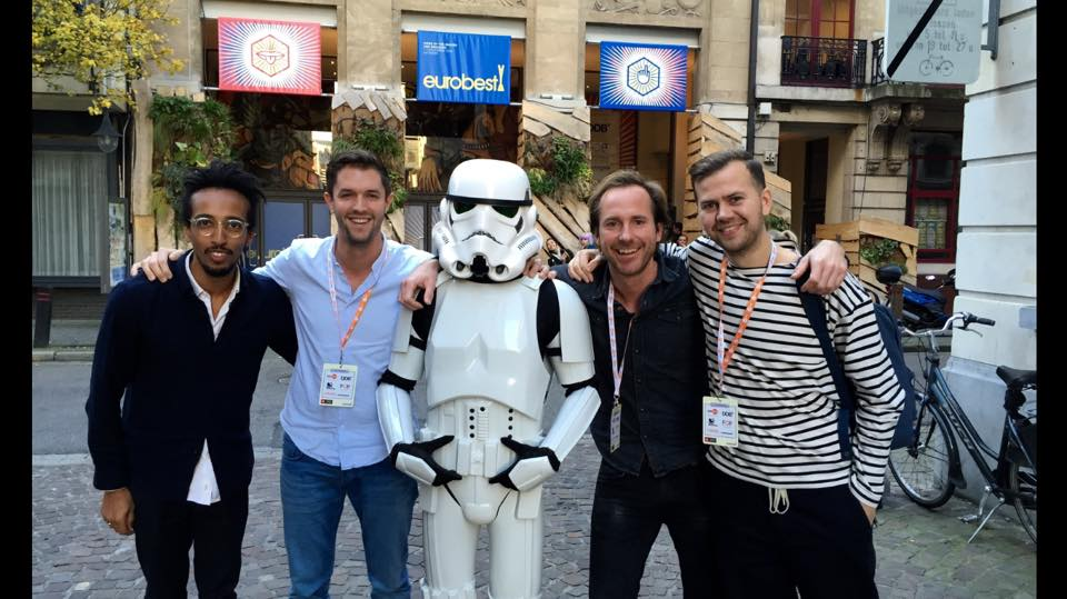 Team Wanderbrief & The Pop Up Agency at Eurobest 2015