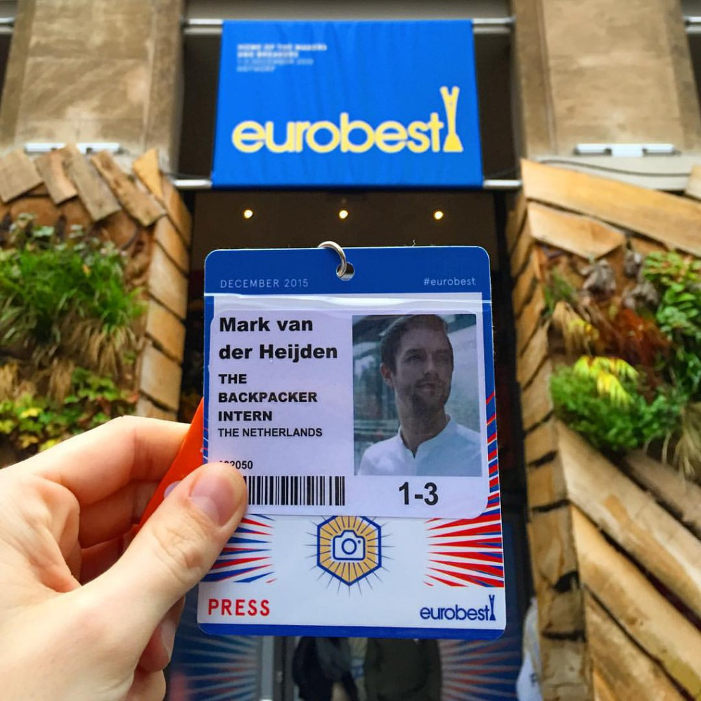 The Backpacker Intern at Eurobest 2015